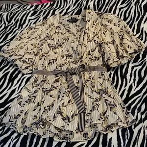 BCBG Maxazria Silk and Cotton Blouse EUC